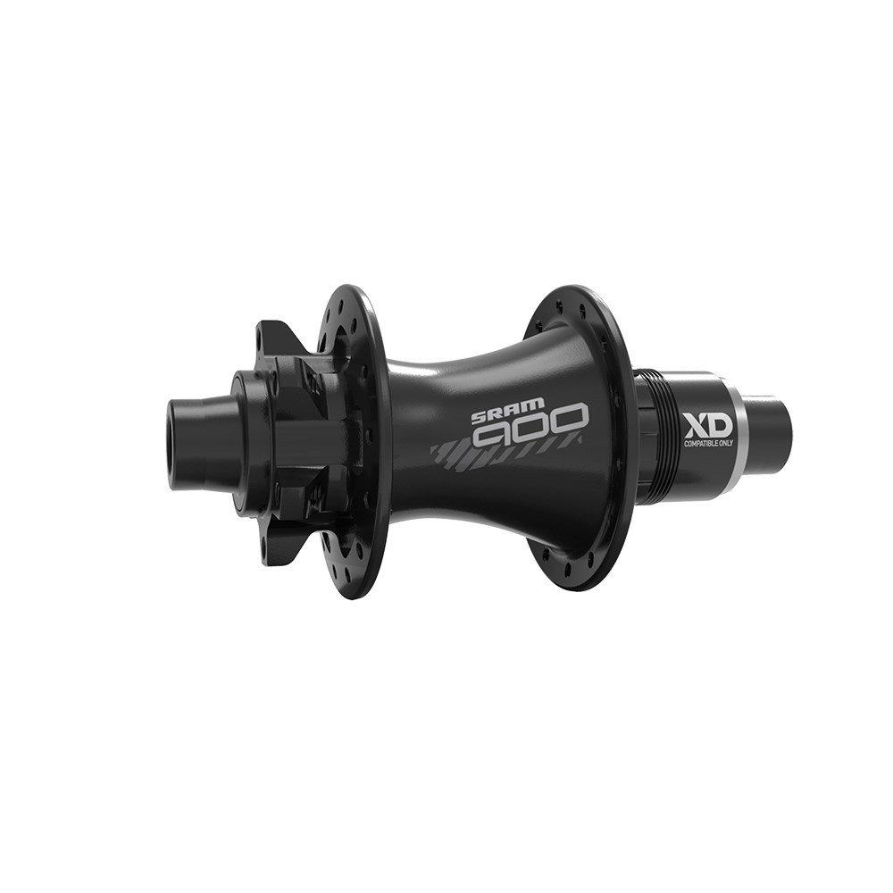 MTB náboj SRAM 900 zadní, 32děr, 6 šroubů, diskový, Black, XD-R(27.8mm) ořech (11rychl.) (