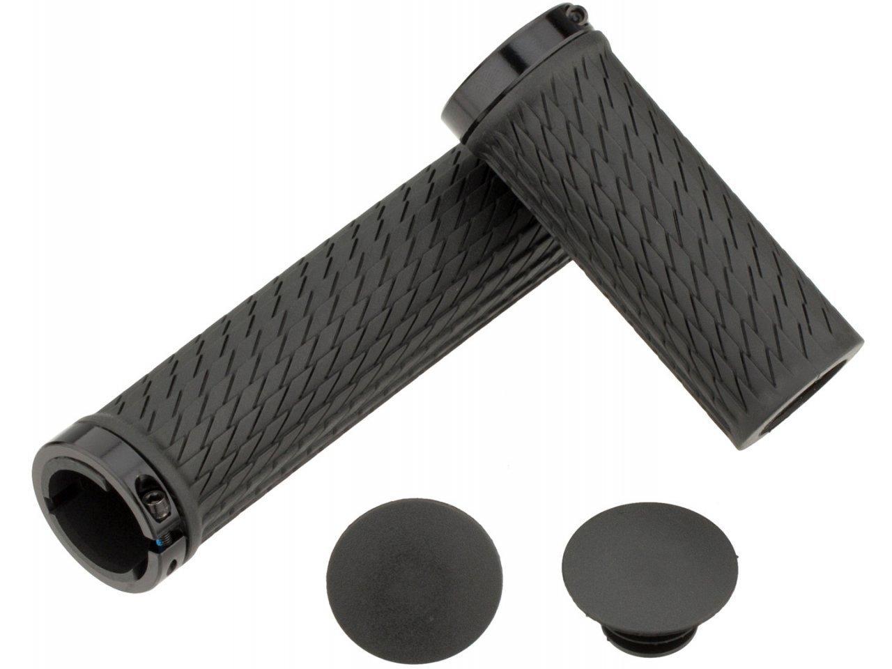 Locking gripy pro TwistLoc 77/125mm s černými objímkami a koncovkami