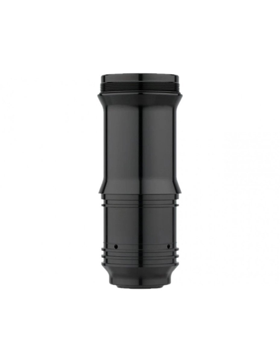 REAR SHOCK AIR CAN ASSEMBLY - DEBONAIR V2 BLACK 185/210X47.5-55mm (INCLUDES DECALS)-DELUXE