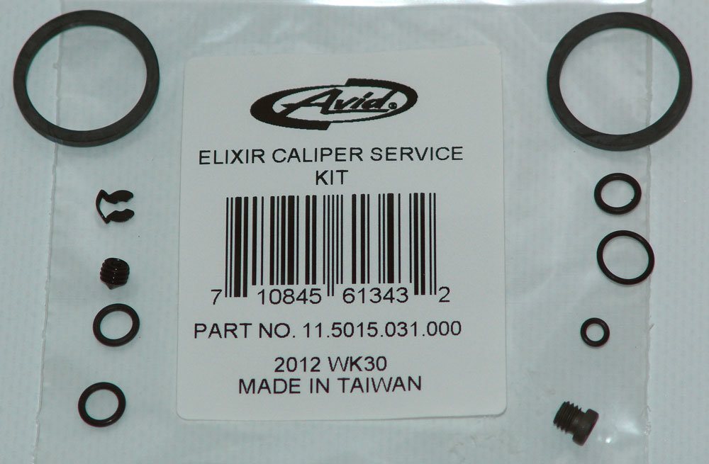 DISC BRAKE CALIPER KIT - (INCLUDES PISTONS, SEALS & BLEED SCREWS) - ELIXIR