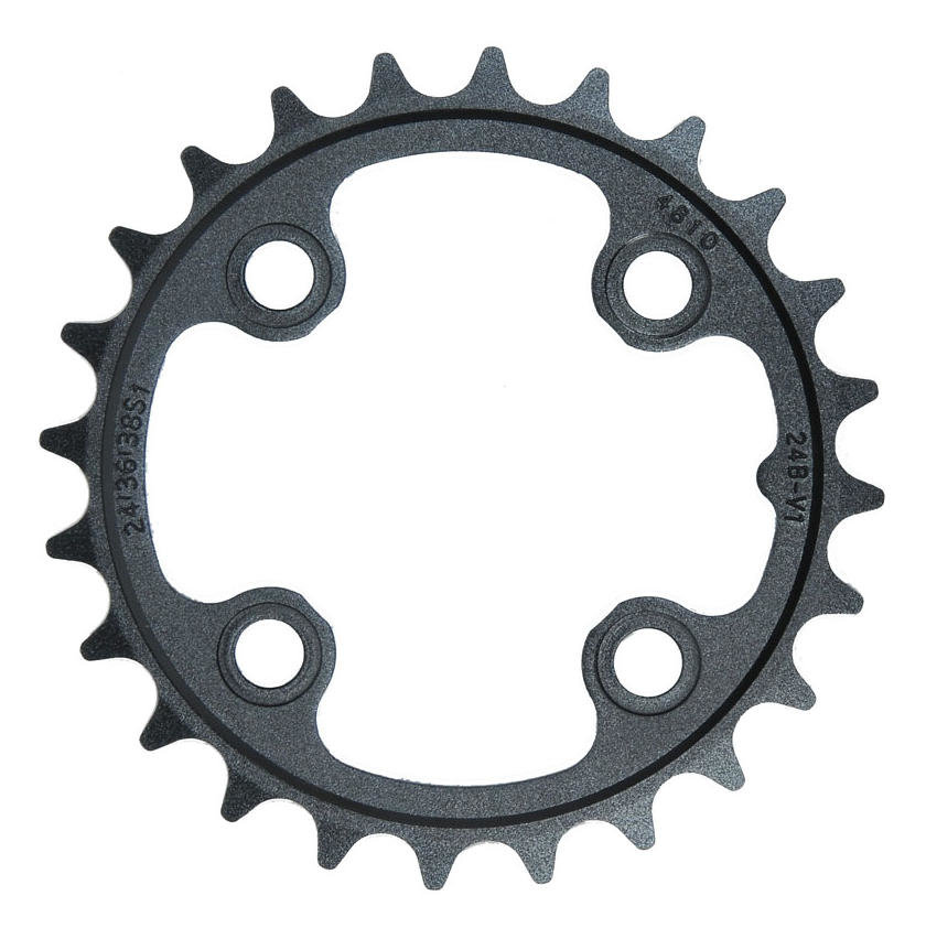 Převodník SRAM MTB 24T B V1 64 Alum 3mm Blast Black 9 & 10 speed
