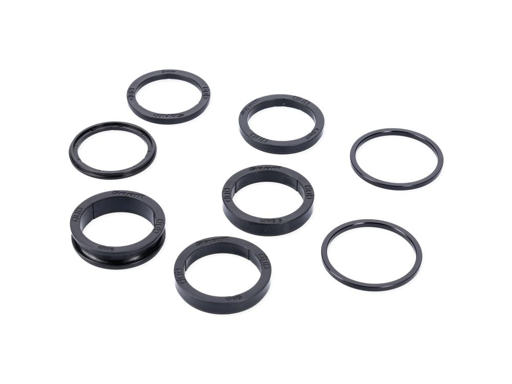 BOTTOM BRACKET SPACER KIT DUB MTB/ROAD (DUB SPACERS 2.0, 3.0, 4.5, 6.0, 6.5, 9.0MM AND 2 S