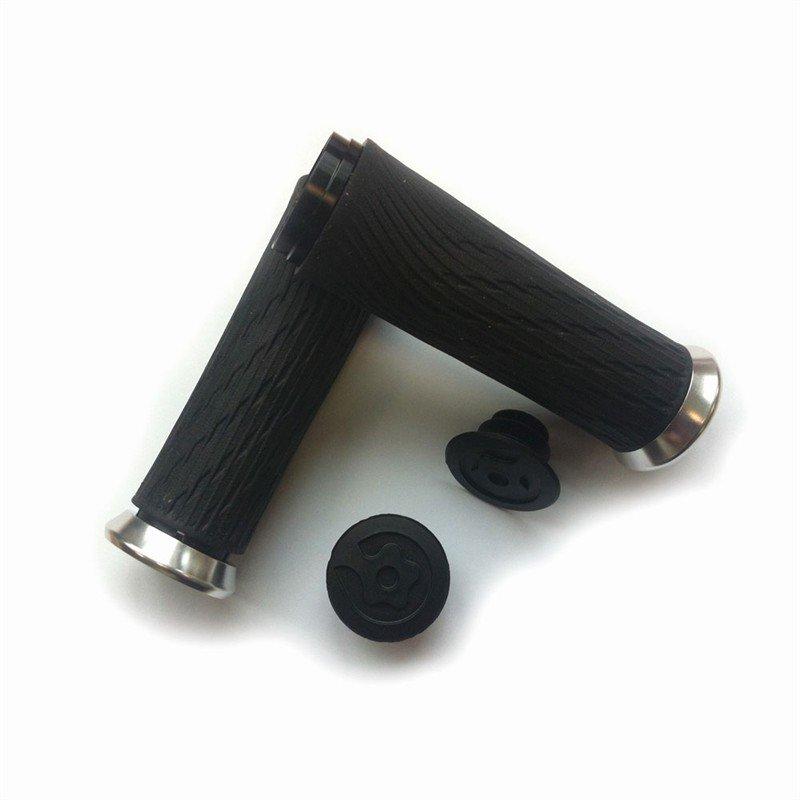 Locking gripy pro Grip Shift Integrated 85mm se stříbrnou objímkou a s koncovkou řidítek