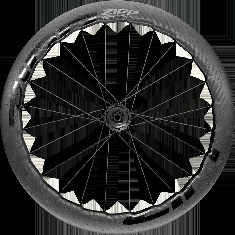 Napletené kolo ZIPP 454 NSW Carbon Tubeless, pro diskovou brzdu, Center Locking 700c zadní