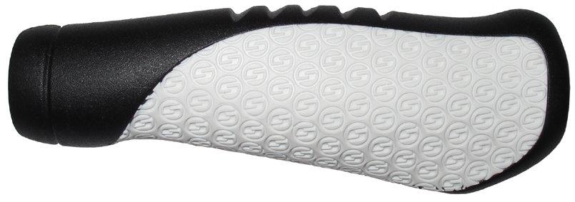 SRAM Comfort gripy černé/bílé 133mm