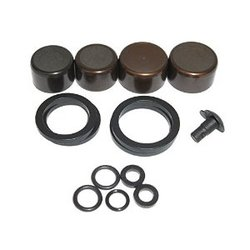 DISC BRAKE CALIPER PISTON KIT - (INCLUDES 2-16mm &2-14mm ALUMINUM CALIPER PISTONS, SEALS &