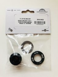 CRANK ARM BOLT KIT SELF-EXTRACTING M18/M30 DUB BLACK