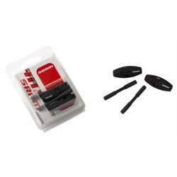 Inline Barrel Adjuster, Alloy/Rubber Coating/Indexed Adjuster Dial, Black - SRAM Qty 2